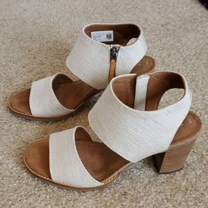 Toms majorca canvas wedge sandals size 9 euc